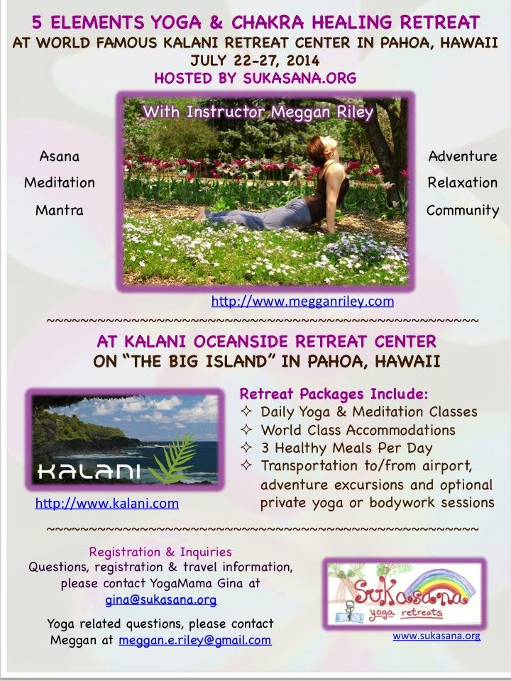Hawaii Summer yoga retreat